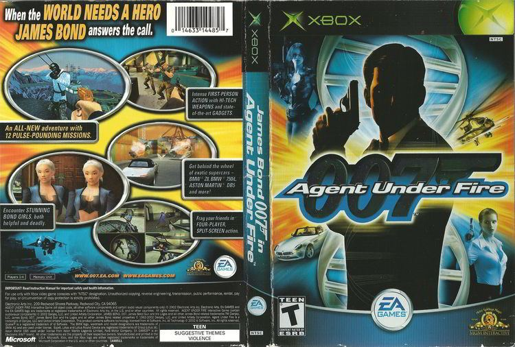 007: Agent Under Fire 007 Agent Under Fire NTSCU Cover Download Microsoft Xbox
