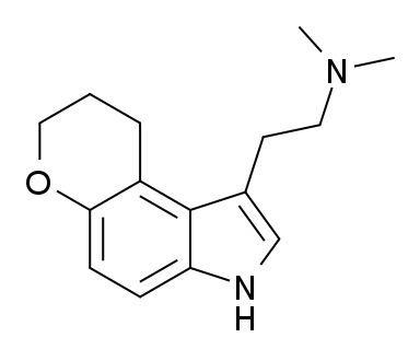 1-(2-Dimethylaminoethyl)dihydropyrano(3,2-e)indole