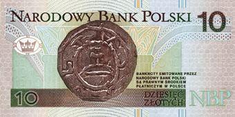 10 złotych note