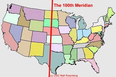 100th meridian west mstartzman 100th Meridian John Wesley Powell 7
