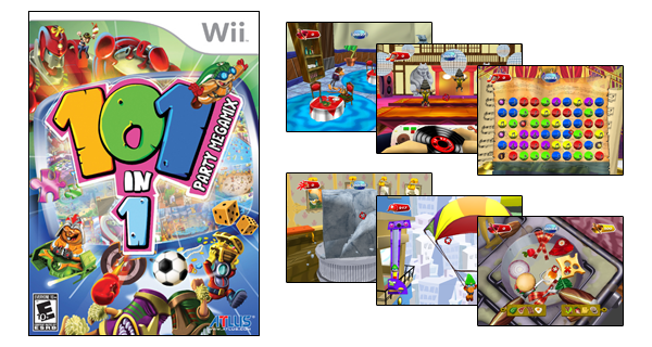 101-in-1 Party Megamix 101IN1 PARTY MEGAMIX FOR Wii IS IN STORES NOW WITH AN MSRP OF