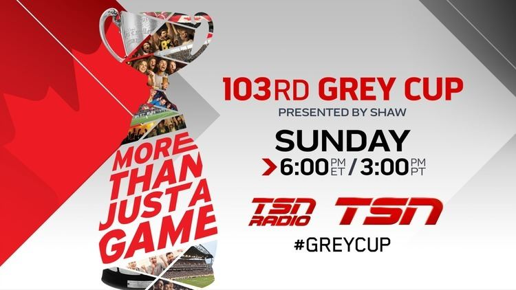 103rd Grey Cup TSN Delivers Exclusive Live Coverage of Canada39s Biggest Party the