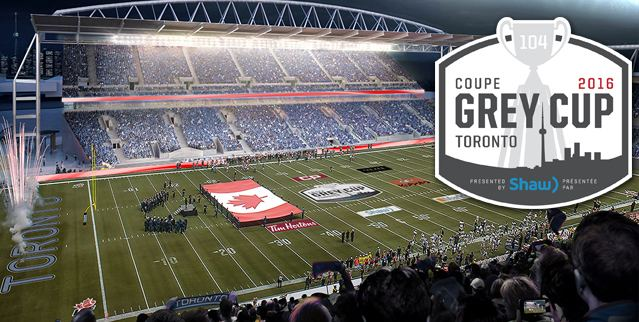 104th Grey Cup 104th Grey Cup presented by Shaw awarded to Toronto CFLca