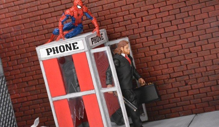 1:12 scale Action Figure Prop Shop 3 Telephone Booth 112 scale Figures