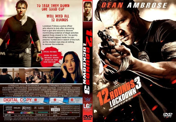 12 Rounds 3: Lockdown 12 Rounds 3 Lockdown DVD Cover label 2015 R1 CUSTOM