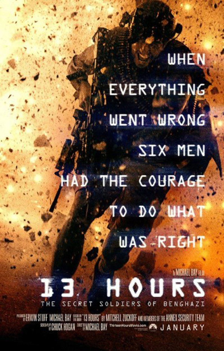 13 Hours: The Secret Soldiers of Benghazi movie poster