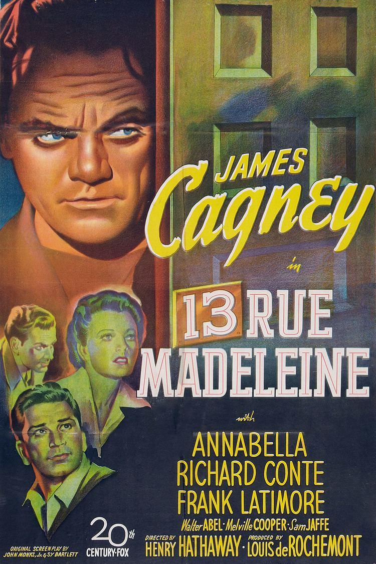 13 Rue Madeleine wwwgstaticcomtvthumbmovieposters3602p3602p