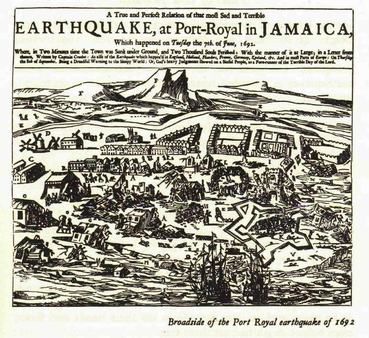 1692 Jamaica earthquake This Day in History Port Royal Earthquake Caribbean News
