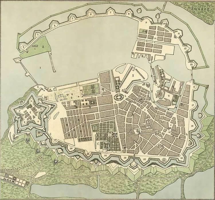 1728 map of Copenhagen