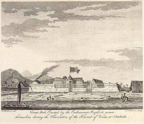 1769 Transit of Venus observed from Tahiti