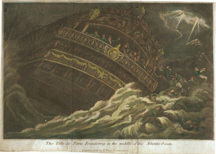 1782 Central Atlantic hurricane