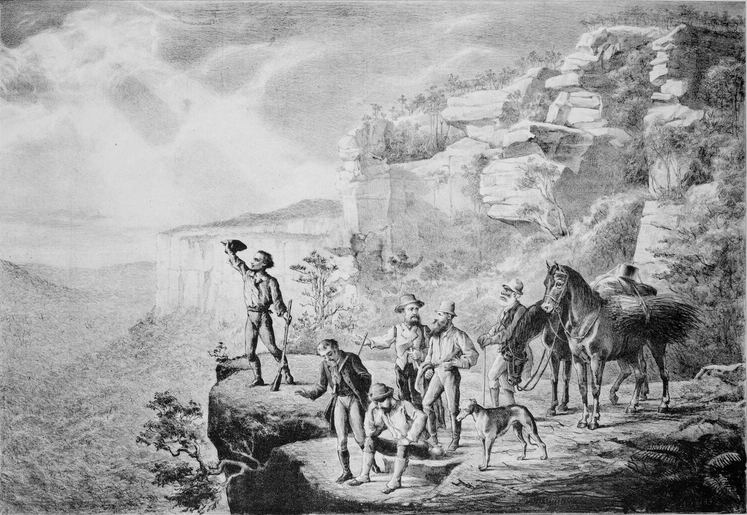 1813 crossing of the Blue Mountains