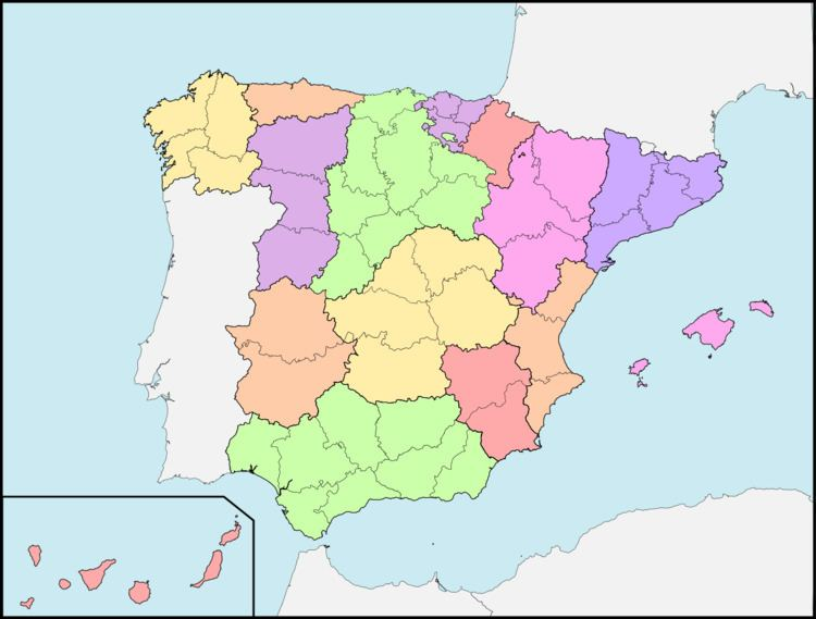1833 territorial division of Spain