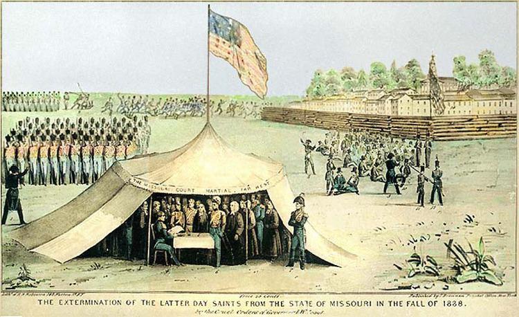 1838 Mormon War wwwtruthandgracecomImages1838Surrenderjpg