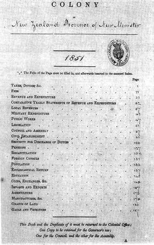 1851 New Zealand census