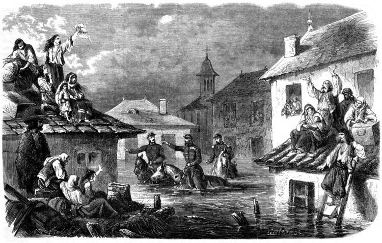 1865 flooding of Bucharest