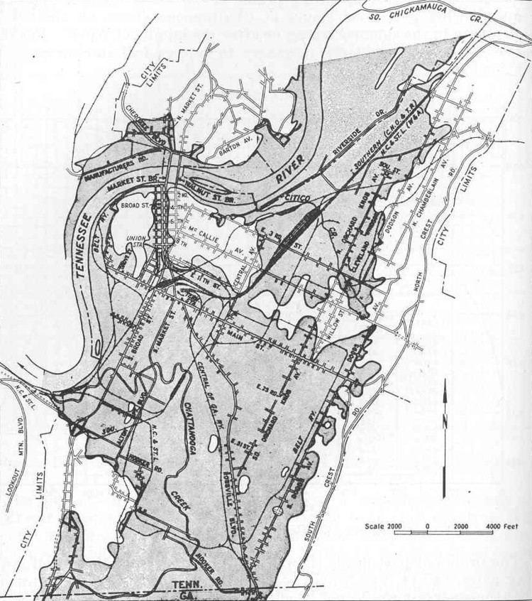 1867 flood of Chattanooga