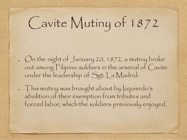 """Part of Chapter 4 of """"The Dawn of Filipino Nationalism"""", the Cavite Mutiny of 1872."""