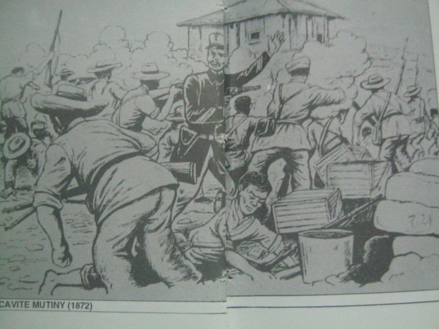Scene from Cavite Mutiny 1872 Battle