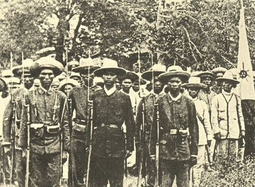 Scene from The Philippine Revolution in August 1896.