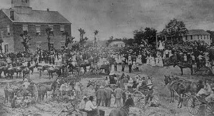 Scene from Cavite Mutiny on Enero 20, 1872.