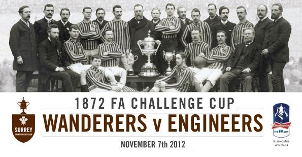 1872 FA Cup Final The first FA Cup Final A shilling to get in no nets and seven up front