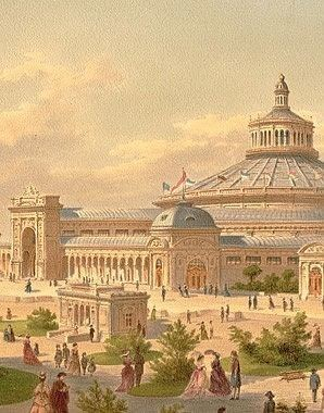 1873 Vienna World's Fair The Rotunda The centrepiece of the Vienna World Exhibition of 1873