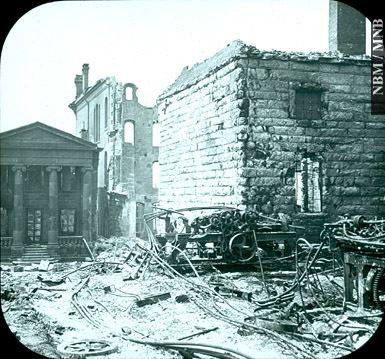1877 Great Fire of Saint John, New Brunswick X15953 Ruins of the Bank of New Brunswick Post Office and City