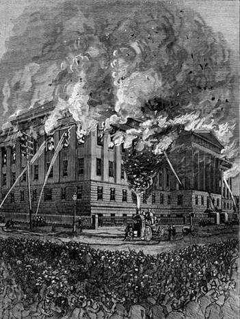 1877 U.S. Patent Office fire