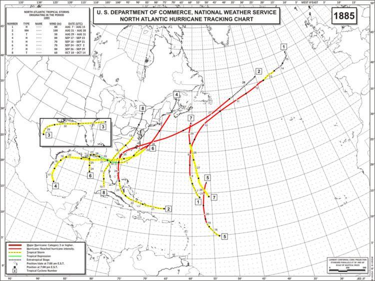1885 Atlantic hurricane season