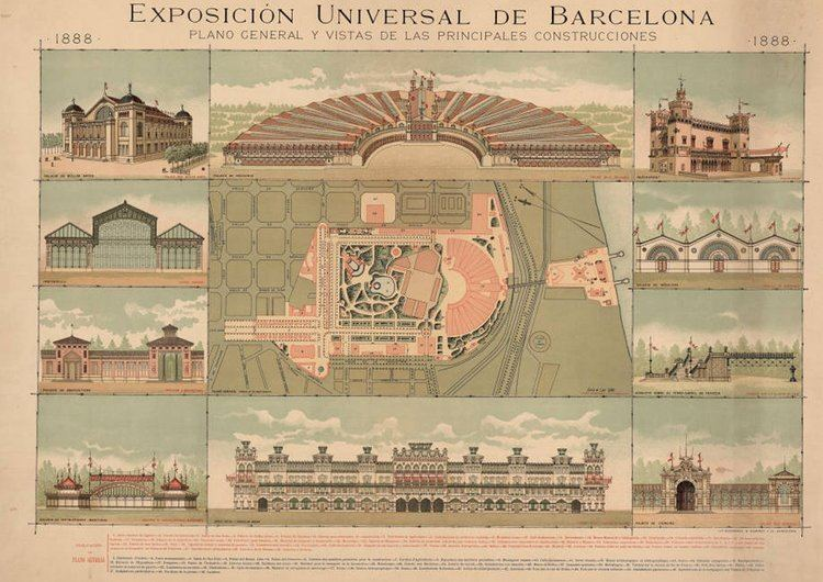 1888 Barcelona Universal Exposition FileExpo Barcelona 1888jpg Wikimedia Commons