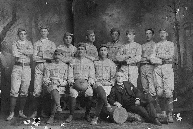 1889 Trinity Blue and White football team