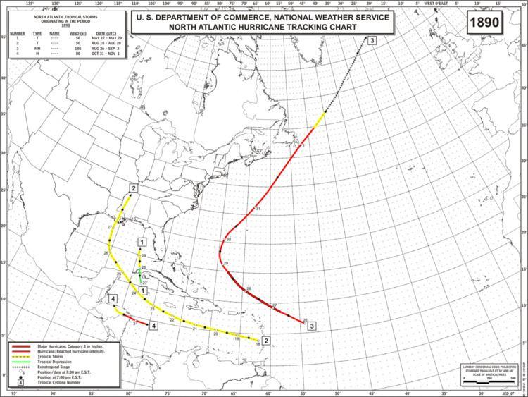 1890 Atlantic hurricane season