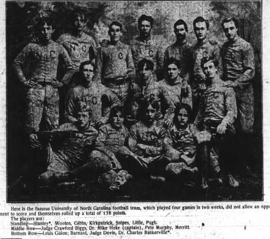 1892 North Carolina Tar Heels football team