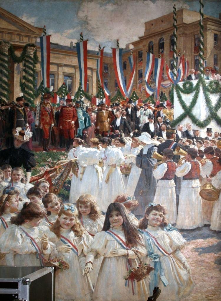 1895 visit of Emperor Franz Joseph to Zagreb