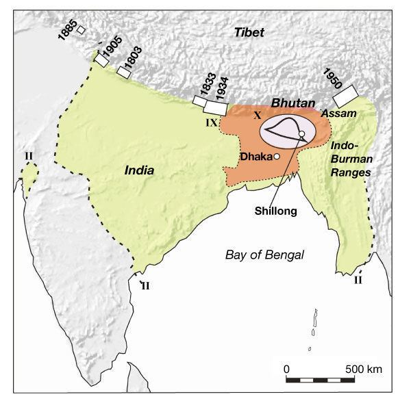 1897 Assam earthquake Plateau popup39 in the great 1897 Assam earthquake Article Nature