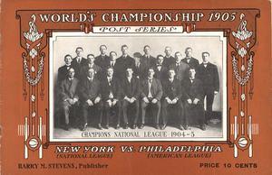 1905 World Series httpsuploadwikimediaorgwikipediacommonsthu