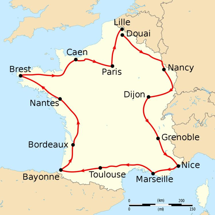 1906 Tour de France, Stage 1 to Stage 7