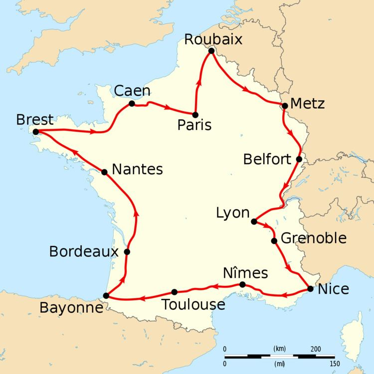 1908 Tour de France, Stage 1 to Stage 7