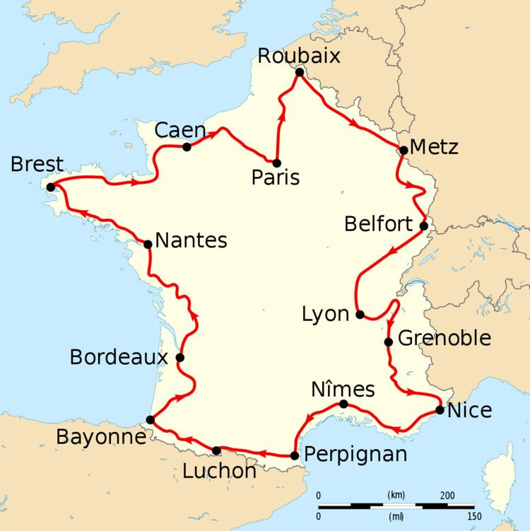 1910 Tour de France, Stage 1 to Stage 8
