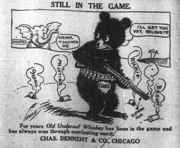 1910 World Series Lost AdvertisementsAthleticsCubs 1910 World Series Baseball