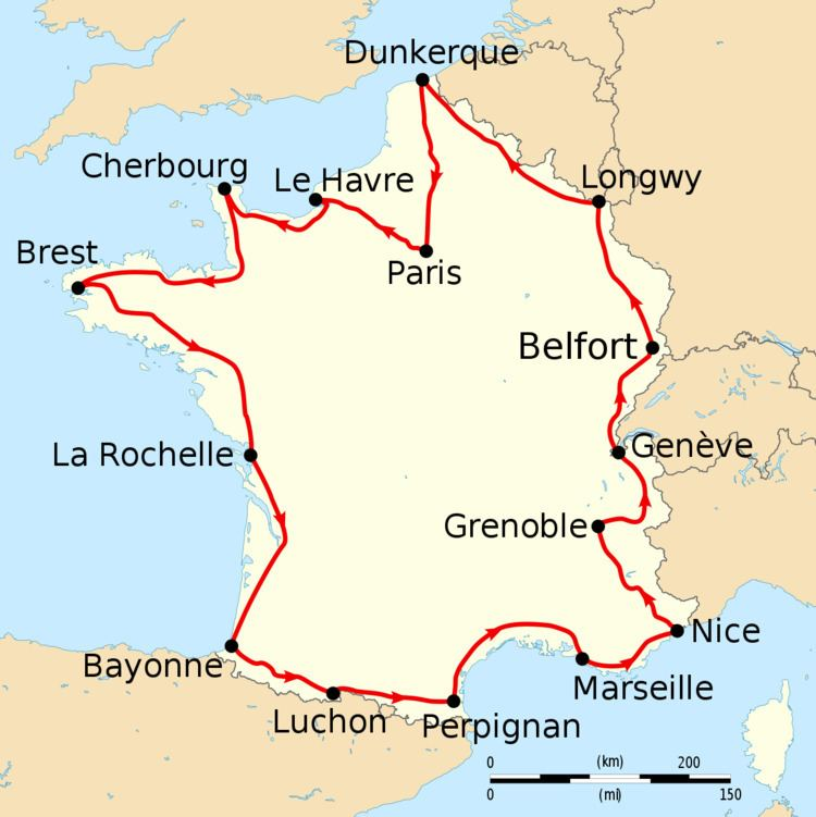 1914 Tour de France, Stage 1 to Stage 8
