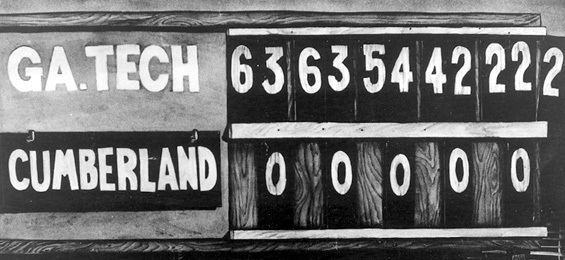 1916 Cumberland vs. Georgia Tech football game