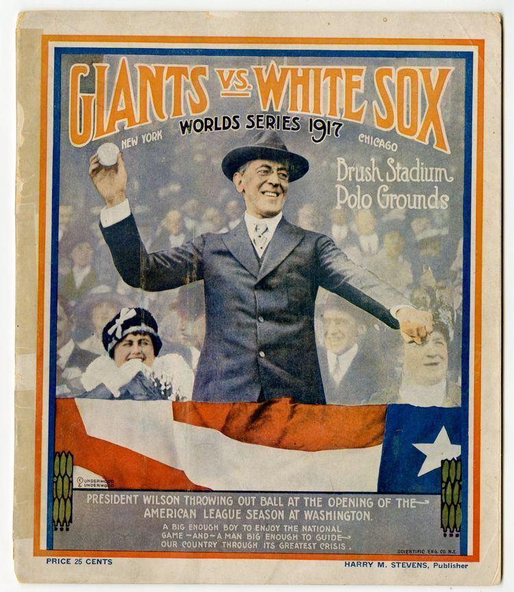 1917 World Series Lot Detail 1917 World Series Program Chicago White Sox at New