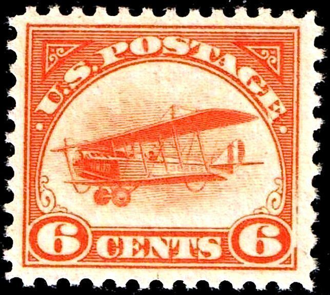 1918 Curtiss Jenny airmail stamps
