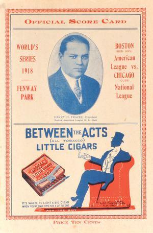 1918 World Series httpsuploadwikimediaorgwikipediacommonsthu