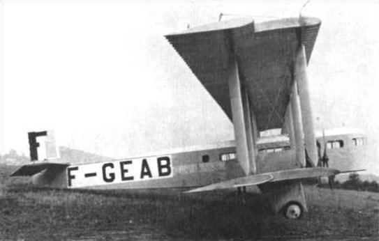 1921 SNETA Farman Goliath ditching