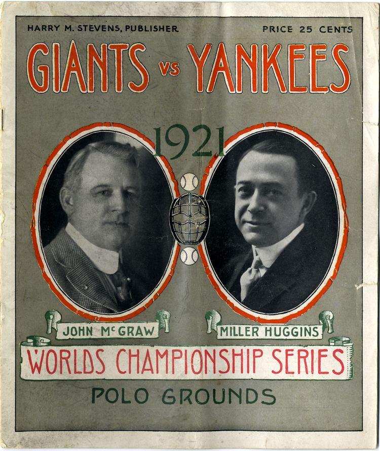 1921 World Series 1921 World Series official souvenir program DPL DAMS