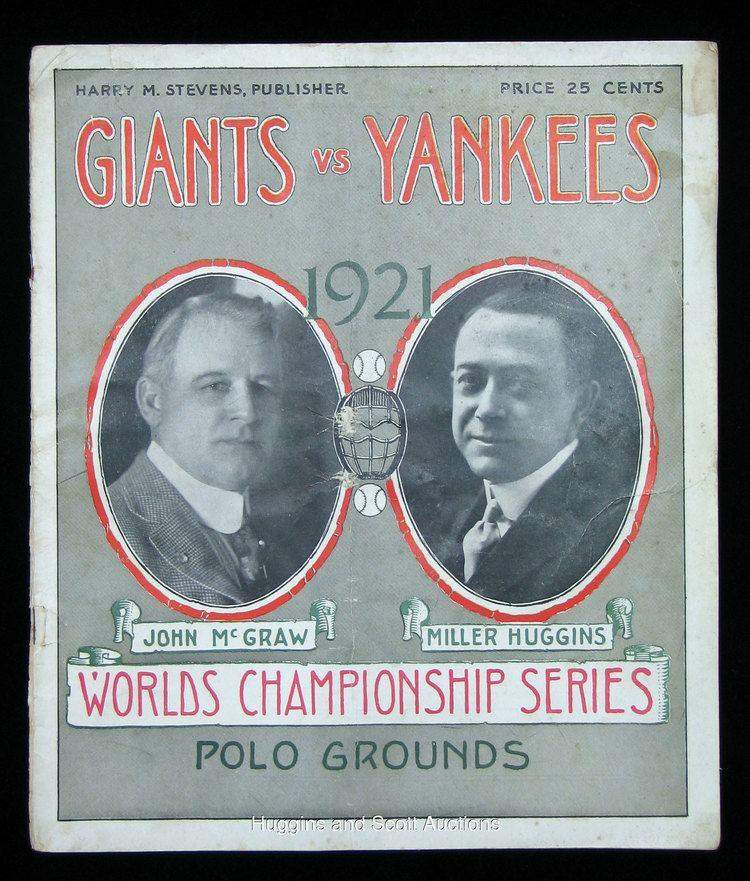 1921 World Series 1921 World Series Game 4 Program Yankees vs Giants