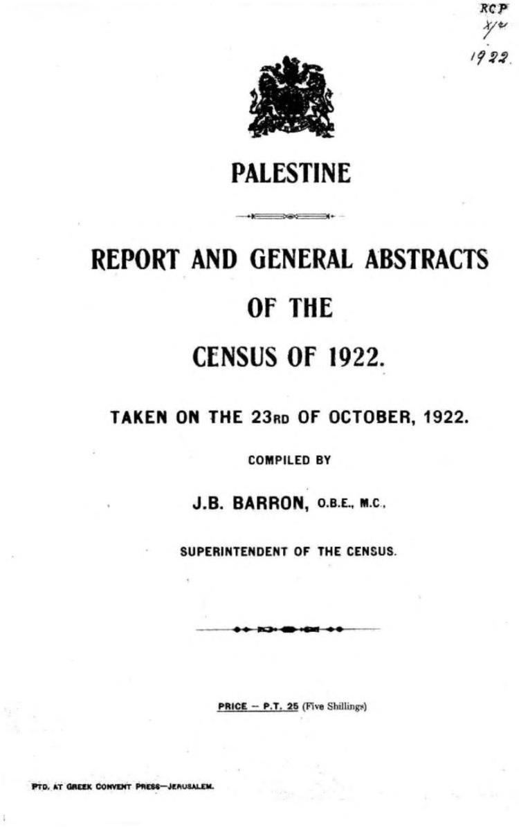 1922 census of Palestine
